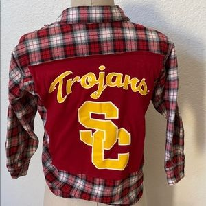 USC Trojans Upcycled Kids Flannel Size Small